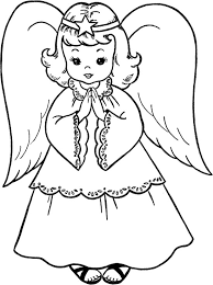 sweet christmas angel coloring coloring pages