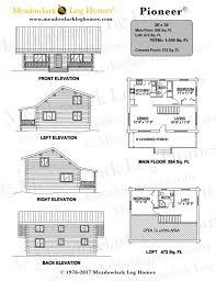 pioneer log homes floor plans pioneer log homestead meadowlark log homes