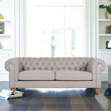 fabric chesterfield sofa chesterfield 3 seater fabric sofa dove grey all sofas living