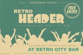landscape retro vintage event party concert flyer template