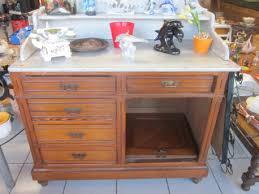 dessus de bureau bureau en bois dessus marbre vintage les vieilles choses
