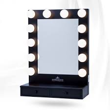 makeup mirror with light bulbs around it home vanity decoration