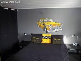chambre gris et jaune deco chambre ado gris et jaune visuel 5