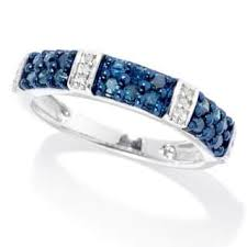 blue diamond wedding rings blue diamond rings for less overstock
