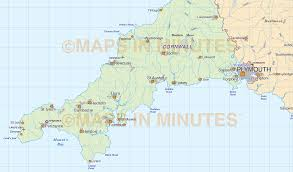 digital vector south west england map in illustrator cs and