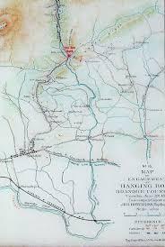 Salem Virginia Map by Battle Of Hanging Rock