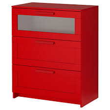 Ikea Kullen Dresser 3 Drawer by Ikea Brimnes Commode à 3 Tiroirs Rouge Verre Dépoli Les