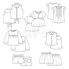 vector kids clothes sketches for your design stock vector