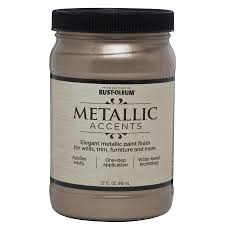 shop rust oleum metallic accents champagne metallic gloss metallic