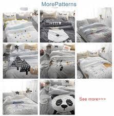 beddingoutlet white swan printed bedding set kids cute bedspread