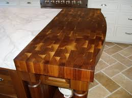 walnut end grain butcher block wood countertop with curved front