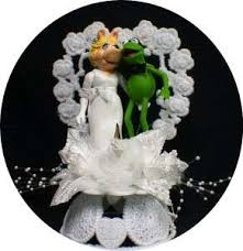 miss piggy kermit frog wedding cake topper muppet top 3 ebay
