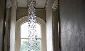 Chandelier Made From Plastic Bottles Dazzling Cascade Chandelier Is Made From Chains Of Recycled