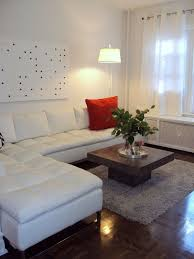 Impressive  Living Room Ideas With Leather Sectional Design - White leather sofa design ideas