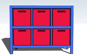 Wood Storage Shelves Plans by Ana White 6 Cube Bookshelf Diy Projects