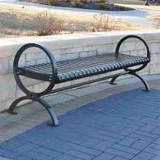 backless bench outdoor coated metal benches metal outdoor benches national outdoor
