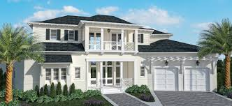 Row House Front Elevation - kjims homes begins new custom home on marco island kjims