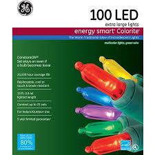 ge led christmas lights ge energy smart 7mm led christmas lights multi color 100ct