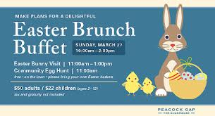 Easter Brunch Buffet by Easter Brunch Buffet At The Clubhouse At Peacock Gap March 2016