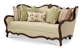 aico lavelle melange wood trim tufted sofa group 1 opt 1 54815