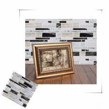 Interior  Peel And Stick Self Adhesive Mosaic Tile Wall Sticker - Vinyl backsplash tiles