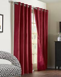 Burgundy Curtain Panels Navar Blackout Grommet Top Curtain Panel Commonwealth Pretty