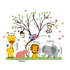 children kids diy room removable jungle zoo monkey tree owl bird children kids diy room removable jungle zoo monkey tree owl bird vinyl decal home decoration wallpaper