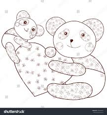 kid coloring book page cute panda stock vector 434646970