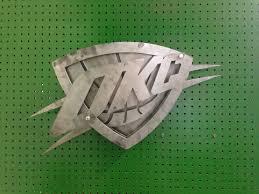 okc thunder logo 3d home decor wall art metal art