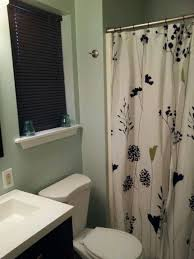 small bathroom with frosted jade walls behr paint from home depot