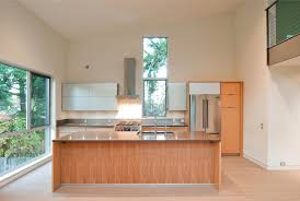 small kitchen island with sink layout cabinets range fridge at posterior wall sink in island