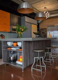 Ksi Kitchen Cabinets by Kitchen Stories Bold Color Compliments A Contemporary Design