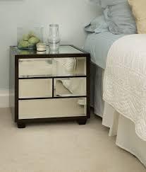 Mirrored Glass Nightstand Nightstand Simple Bedroom Interior Furniture Unusual Brown