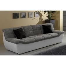 matière canapé canapé 3 places bi matière revêtement synthétique et tissu effet