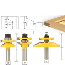 Router Bits For Cabinet Doors 3pcs Bit Raised Panel Cabinet Door Router Bit Set With Bevel 1 2