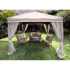 Gazebos For Patios Portable 10 X 10 Pitched Roof Patio Gazebo This Look Wish