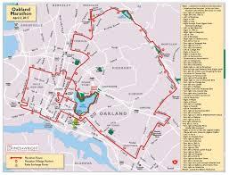 Marathon Route Map by Marathon Oakland Marathon