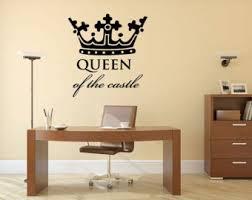 King And Queen Wall Decor Queen Of The Castle Etsy