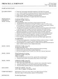Accounts Receivable Skills Resume Resume Examples For Accounting Resume Example And Free Resume Maker