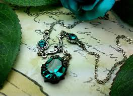 zircon necklace images Blue zircon crystal victorian necklace titanic temptations jewelry jpg