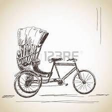 182 rickshaw cycle cliparts stock vector and royalty free