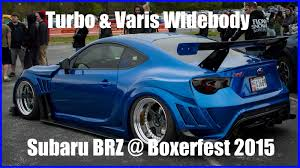 custom subaru brz wallpaper nguyen u0027s bagged turbo varis widebody subaru brz at boxerfest 2015