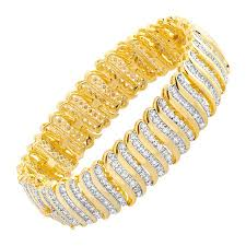 gold plated tennis bracelet images 2 ct diamond 39 s 39 link tennis bracelet in 18k gold plated brass 2 jpg
