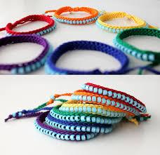 thread bracelet with beads images Friendship bracelets bracelets pinterest blue beads jpg