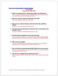 slave trade primary source worksheet aboard a slave ship 1829