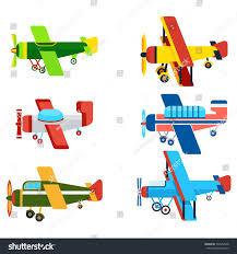 vintage airplanes cartoon models retro motor stock vector