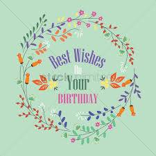 best wishes on your birthday label vector image 1827480