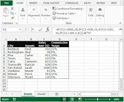 percentage calculator excel calculate commission percentage based on a commission schedule in
