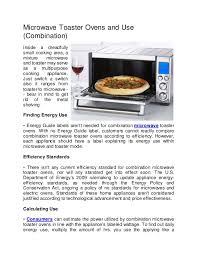 Toaster Oven And Microwave Microwave Toaster Ovens And Use Combination