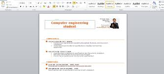 Resume Samples Engineering Students by Resume Template Free For Word Photoshop Amp Illustrator On